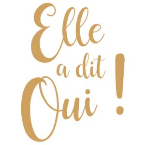 Logo carré Ella a dit Oui by Elsa Gary Caen