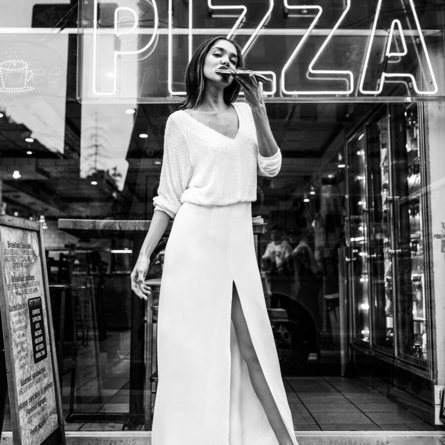 Agata Wojtkiewicz 2020 - Modèle Be Perfect - Robe de mariée chic et élégante tendance à la coupe actuelle - Boutique Elle a dit Oui by Elsa Gary Caen