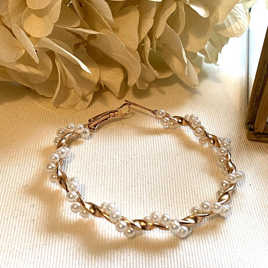 créole torsadées perles