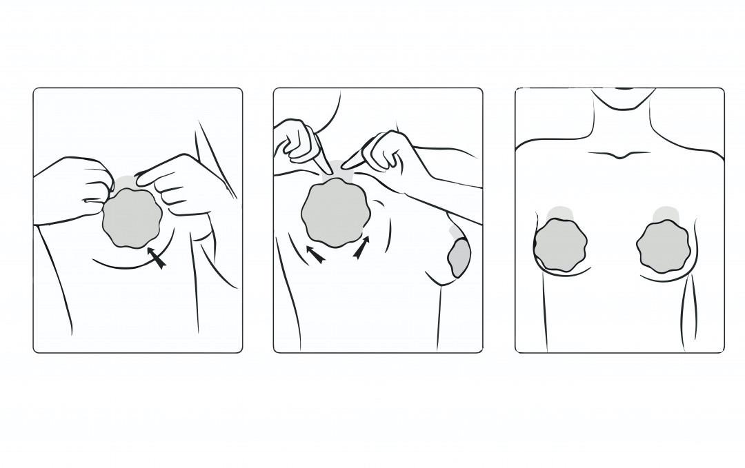 Notice pour les cache-tétons effet liftant